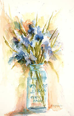 Canning Irises Art Print