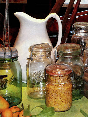 Pitcher Photograph - Canning Jar With Corn by Susan Savad