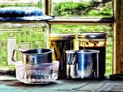 Photograph - Canning Jars And Flour Sifters by Susan Savad