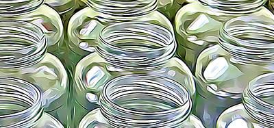 Wall Art - Digital Art - Canning Jars by Dene Brock