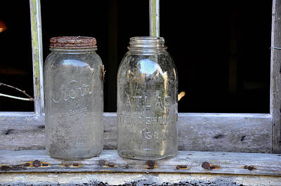 Canning Jars Photograph - Canning Jars by Todd Hostetter