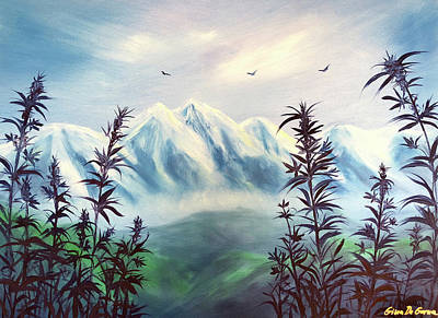 Painting - Cannabis by Gina De Gorna