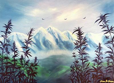 Painting - Cannabis by Gina De Gorna