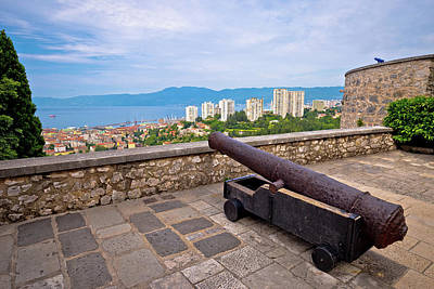 Photograph - Cannon Above City Of Rijeka by Brch Photography