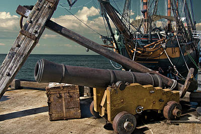 Photograph - Cannon And Anchor By The Boat The Star Of India by Randall Nyhof