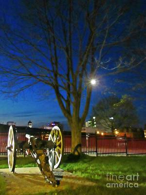 City Of Halifax Photograph - Cannon At Night by John Malone