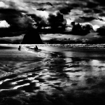 Seascape Photograph - Cannon Beach At Dusk by David Patterson
