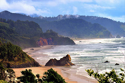 Photograph - Cannon Beach Coast Oregon by Kathy Kelly
