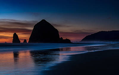 Photograph - Cannon Beach Evening Beach Serenity by Mike Reid