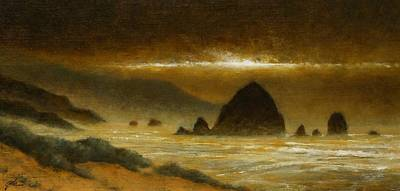 Wall Art - Painting - Cannon Beach Evening by Jim Gola