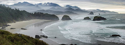 Photograph - Cannon Beach Oregon Pano by Rick Dunnuck
