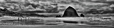 Foggy Beach Photograph - Cannon Beach Panorama II by David Patterson