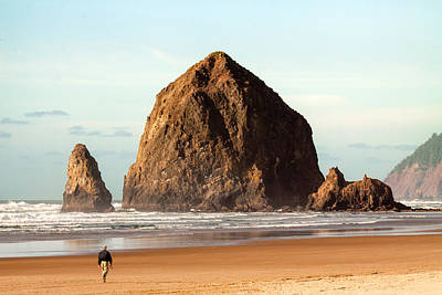Walking Away Photograph - Cannon Beach Stroll by Todd Klassy