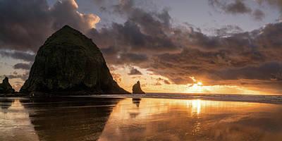 Photograph - Cannon Beach Sunset by Justin Johnson