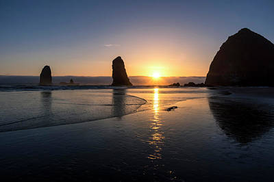 Photograph - Cannon Beach Sunset by Steven Clark