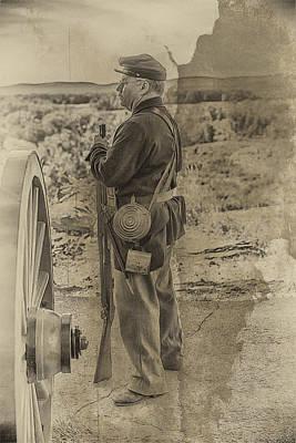Little Round Top Digital Art - Cannon Brigade At Little Round Top by John Haldane