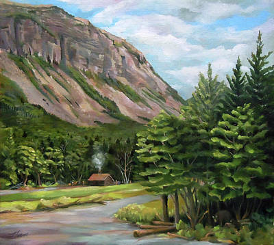 Franconia Notch Painting - Cannon Cliff New Hampshire by Nancy Griswold