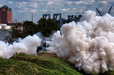 Photograph - Cannon Explosion At Fort Mchenry by Bill Swartwout