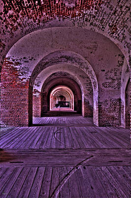 Cannon In The Archways Original by Jason Blalock