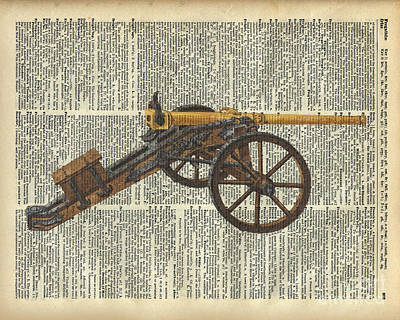 Artillery Mixed Media - Cannon by Jacob Kuch