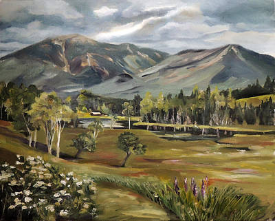 Painting - Cannon Mountain From Sugar Hill New Hampshire by Nancy Griswold