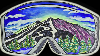 Ski Racing Painting - Cannon Mountain by Nicolette Maw