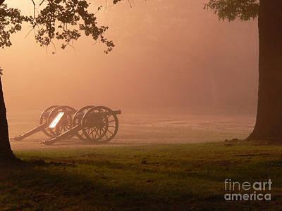 Cannons In The Fog Art Print by David Bearden