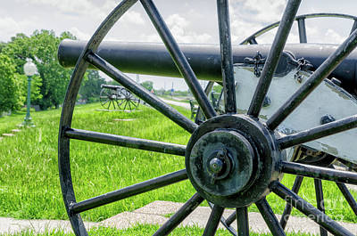 Photograph - Cannons On The Levee by Kathleen K Parker