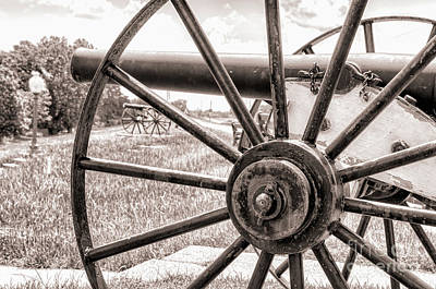 Photograph - Cannons On The Levee - Sepia by Kathleen K Parker