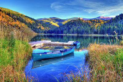 Photograph - Canoe And Lake by Scott Mahon
