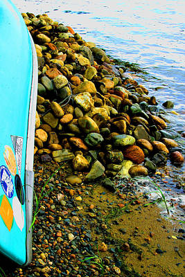 Canoe  And  Shore -  1 Art Print