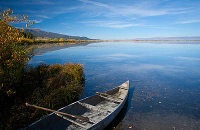 Photograph - Canoe At Red Rock by Idaho Scenic Images Linda Lantzy