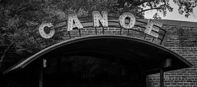 Photograph - Canoe Bw Atlanta Vinings Dining Art by Reid Callaway