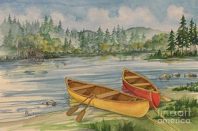 Canoe Painting - Canoe Camp by Paul Brent