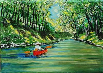 Canoe Cruising Art Print