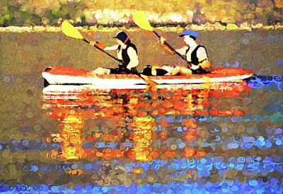 Digital Art - Canoe For Two by Dennis Cox Photo Explorer