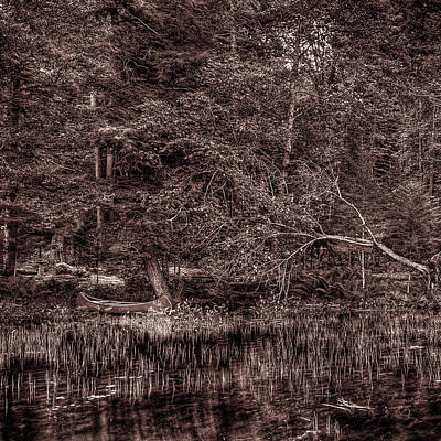 Photograph - Canoe In The Adirondacks by David Patterson