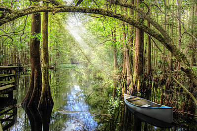 Photograph - Canoe In The Glade by Debra and Dave Vanderlaan