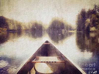 Photograph - Canoe In The Mist by William Wyckoff