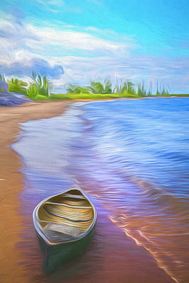 Photograph - Canoe In The Summer by Debra and Dave Vanderlaan