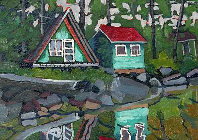 Canoe Lake Bunkies Art Print