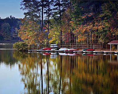 Bath Time - Canoe Lake by Gary Adkins