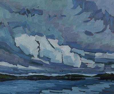 Canoe Lake Overcast Art Print