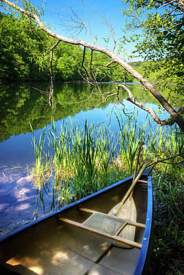 Photograph - Canoe On A Mountain Lake by Debra and Dave Vanderlaan
