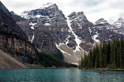 Photograph - Canoe On Lake Moraine by Art Cole