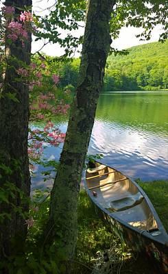 Photograph - Canoe On Pond, Catskills by Lisa Dunn