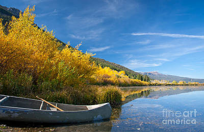 Photograph - Canoe On Red Rock Lake by Idaho Scenic Images Linda Lantzy