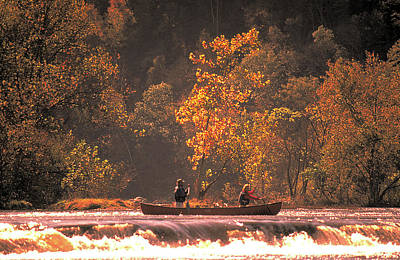 Photograph - Canoe On River In Virginia by Carl Purcell