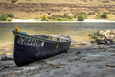 Photograph - Canoe On The Beach by Brad Stinson