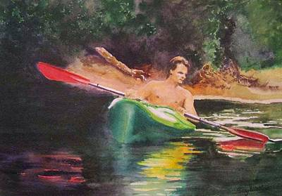 Painting - Canoe On The Black by Bobby Walters